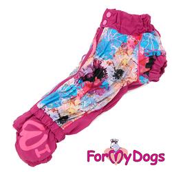 ForMyDogs Комбинезон для такс розовый, размер ТМ1, ТМ2, ТС1, модель для девочек
