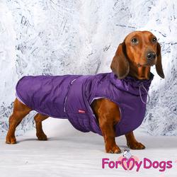 ForMyDogs Попона для такс фиолетовая, размер ТС2