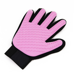 Al1 Рукавица для чистки шерсти у животных розовая