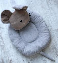 P&D Лежанка для собак и кошек из искусственного меха в форме Мышки, серая 45х44см