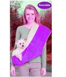 АНТ Слинг для собак, меховой, фиолетовый цвет, 84х43см