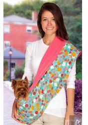 АНТ Слинг для собак 2-х сторонний, розовый/цветной микс, 83х43см, плюш/хб