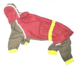 АНТ Дождевик для средних пород собак, красный/хаки, размер М, спина 47см