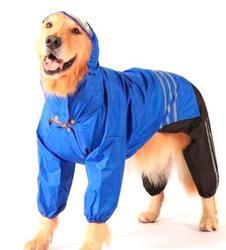 АНТ DefPet Дождевик-трансформер для больших пород собак, синий, размер S, спина 55-59см