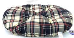 Бобровый дворик Лежак-подушка для собак и кошек, расцветка шотландка бежевая( с красно-синей клеткой)