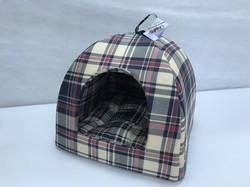 Бобровый дворик Домик лежак для кошек и маленьких собак Бежевая клетка