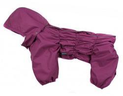ZooAvtoritet Дождевик Дутик для средних пород собак, сиреневый, мембрана, размер 3XL, спина 45-48см