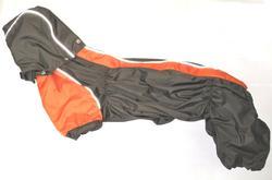 ZooAvtoritet Дождевик для таксы, коричнево/оранжевый, размер ТБ1, длина спины 50см