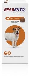Intervet Бравекто жевательная таблетка для собак 4,5-10кг 250мг