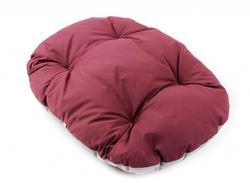 ZooAvtoritet Лежанка-подушка Pufik, размер S, 47х33х7см, бордо/серый