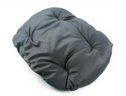ZooAvtoritet Лежанка-подушка Pufik, размер L, 57х43х9см, серо/синий