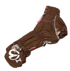 ForMyDogs Комбинезон для такс коричневый, для мальчика, размер ТМ1, флис