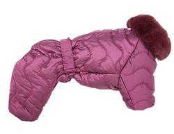 ForMyDogs Комбинезон для собак бордовый, размер 14, 22, для девочек