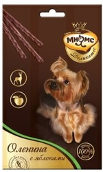 МНЯМС Мнямс Деликатес лакомые палочки 13,5 см для собак с олениной и яблоком 3х11 г