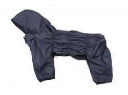 ZooAvtoritet Дождевик для средних пород собак Дутик, синий, размер 2XL, спина 44см