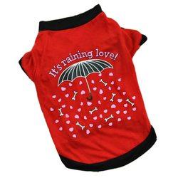 """Al1 Футболка для собак мелких пород """"Зонтик"""" красная, размер S, М, L"""