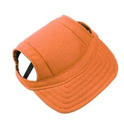 Al1 Кепка для собак оранжевая, размер S