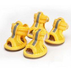 Al1 Сандалии для собак размер №1, цвет желтый, текстиль