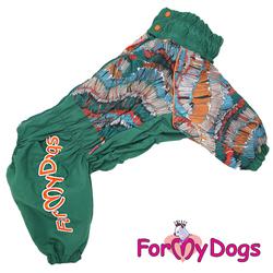 ForMyDogs Дождевик для крупных собак зеленый, модель для мальчиков, размер C1