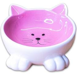 КерамикАрт Миска керамическая для кошек Мордочка кошки на ножках 100 мл