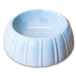 КерамикАрт Миска керамическая для животных 300мл, с полосками серая