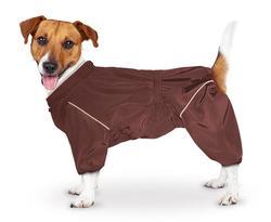 ZooTrend Дождевик для больших пород собак, шоколад, размер 5XL(спина 60см)
