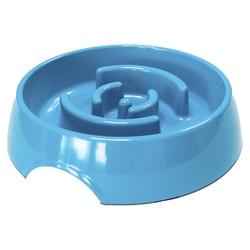 SuperDesign Миска меламиновая для медленного поедания, синяя