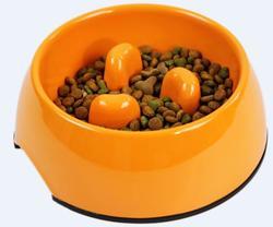 SuperDesign Миска меламиновая для медленного поедания 140 мл, оранжевая