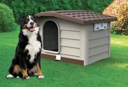 Будка для собак BUNGALOW, пластик, бежевая