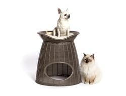 Домик для кошек PASHA 52х60х46/55h см, с подушечками