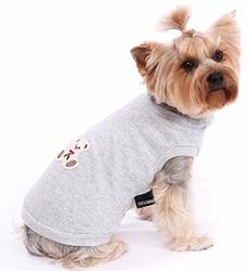 """P&D Джемпер для собак """"Мишка"""" серый трикотажный, размер М, L"""