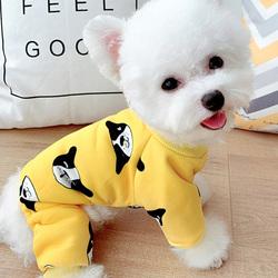 """Al1 Костюм для собак """"Собачки"""" желтый, размер М, L"""