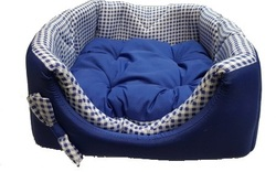 ZooTrend Лежак для собак и кошек Кубик Синяя клетка М, 40х40х40см