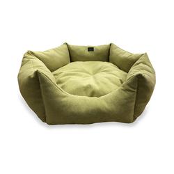 ZooTrend Лежак для собак Медея олива L, размер 55x40x18см