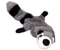"""DOGMAN Игрушка для собак """"Енот"""", меховая, 31см, с пищалкой"""