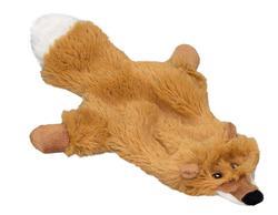 """DOGMAN Игрушка для собак """"Лиса"""", меховая, 28см, с пищалкой"""