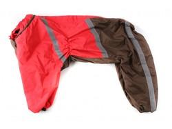 ZooAvtoritet Дождевик для Стаффорда, красный/коричневый, спина 50-55см