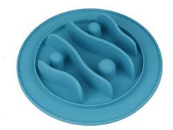 SuperDesign Миска силиконовая для медленного поедания 200 мл, голубая