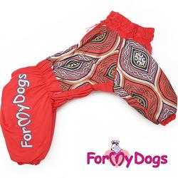ForMyDogs Комбинезон для больших собак оранжевый, размер С3, D2, модель для девочек
