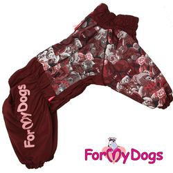 """ForMyDogs Комбинезон для больших собак """"Мишки"""" коричневый, размер С2, модель для девочек"""