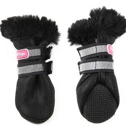 ForMyDogs Ботиночки зимние для собак черные ц/кр, размер №0