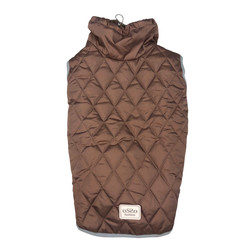 Osso Fashion Попона -жилет теплая для крупных собак коричневая, спина 70см