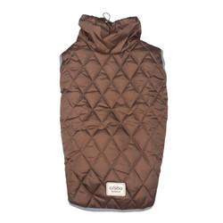 Osso Fashion Попона -жилет теплая для крупных собак коричневая, спина 65см и 70см