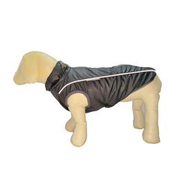 Osso Fashion Попона-жилет для крупных собак на флисе темно-серая, спина 70см