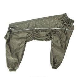 Osso Fashion Дождевик для крупных собак, модель для мальчика, хаки, спина 65см