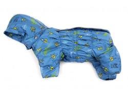 ZooAvtoritet Комбинезон для собак Дутик голубой/роботы, размер XL, спина 36-40см
