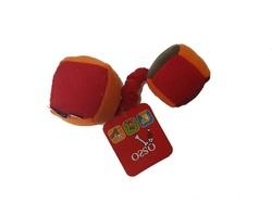 Osso Fashion Игрушка для собак из флиса «Кубики» на резинке с пищалками 22,0 см