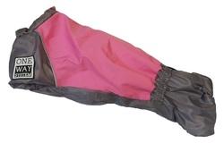 LifeDog Комбинезон для таксы серый/розовый размер №4, спина 50-52см