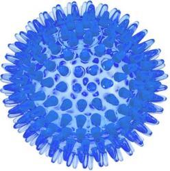 ZooOne Игрушка для собак Мяч массажный прозрачный Crystal, синий 10 см