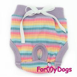 ForMyDogs Трусики для собак гигиенические сиреневые для девочки, размер №14, №18